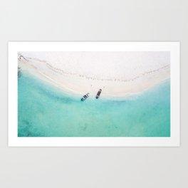 Somewhere in the Caribbean sea Art Print