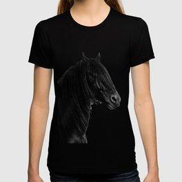 Black beauty Friesian stallion T-shirt