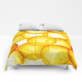 PLAYFUL ORANGE SPHERES Comforters