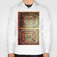 quilt Hoodies featuring Ancient Quilt by Robin Curtiss