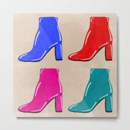 Shiny High Heel Boots Metal Print