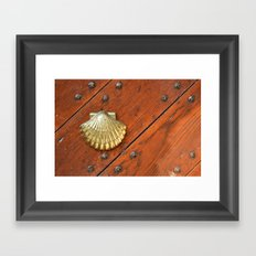 Gold shell Framed Art Print