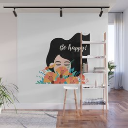 Be Happy! Wall Mural