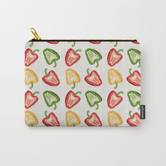 Mixed Peppers Pattern Carry-All Pouch