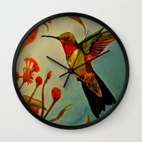 ruby Wall Clocks featuring Ruby by FreeBird Studios