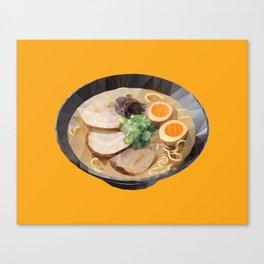 Japanese Tonkotsu Ramen Polygon Art Canvas Print
