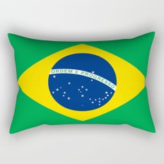 Brazilian National flag Authentic version (color & scale) Rectangular Pillow