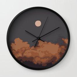 Night sky art print Wall Clock