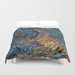 Charred Wood Texture Duvet Cover