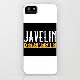 Javelin Throw Lover Gift Idea Design Motif iPhone Case
