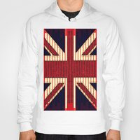 british Hoodies featuring BRITISH FLAG by shannon's art space