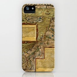 Map Of The Holy Land 1544 iPhone Case
