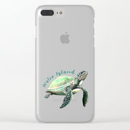 Water Island Turtle Clear iPhone Case