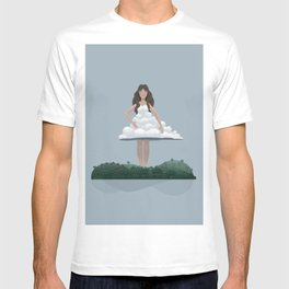 Cloud and woman T-shirt