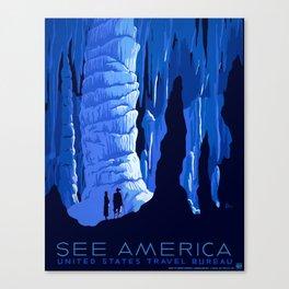 Vintage See America Travel Canvas Print