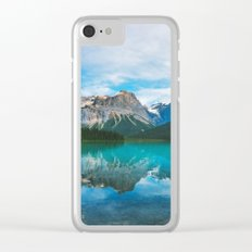 The Mountains and Blue Water Clear iPhone Case