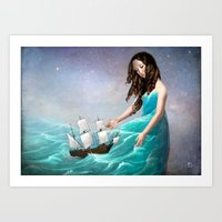 destiny Art Prints featuring Destiny by Christian Schloe