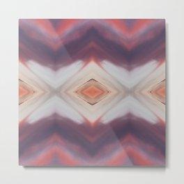 Hot Orange Magenta Diamond w/ Violet Metal Print