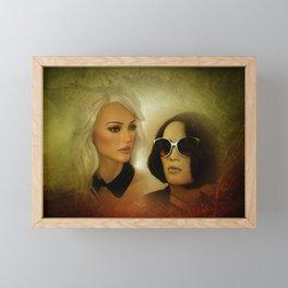 two fashiondolls Framed Mini Art Print