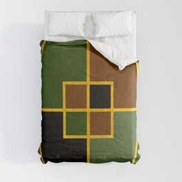 Color Block_Copse Green Gold Comforters