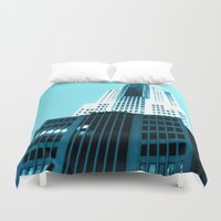 comic book Duvet Covers featuring Comic Book Chicago by A/B Photography