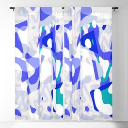Paint Bloops, Ultra Violet Blackout Curtain