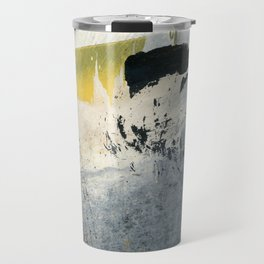 Mellow Yellow Texture Collage Travel Mug