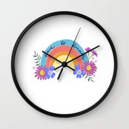Rainbow, Dare to Dream. Wall Clock