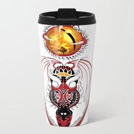 Cosmic Bloodshot Dragon Metal Travel Mug