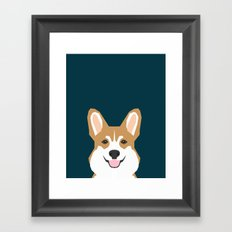 Teagan - Corgi Welsh Corgi gift phone case design for pet lovers and dog people Framed Art Print