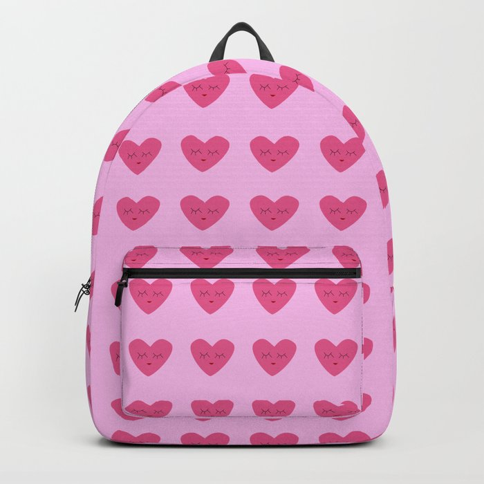 valentines heart pink Backpack