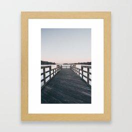 Fog On The Pier Framed Art Print