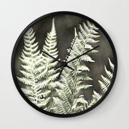 Fantasy Feather Like Fern Wall Clock