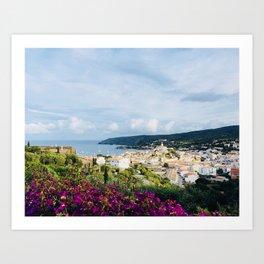 Spanish Coast | Costa Brava Cadaques Coastal Mediterranean Village Riviera Art Art Print
