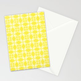 Mediterranean Yellow and White Tile Stationery Cards
