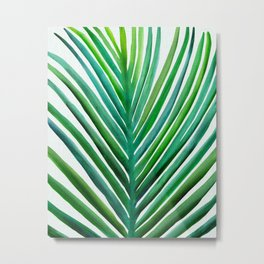 Bold Palm Leaf Watercolor Metal Print