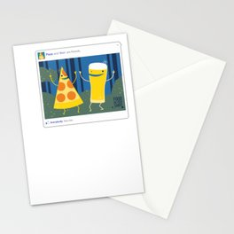 everybody likes pizza and beer Stationery Cards