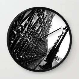 Paris, black and white Wall Clock