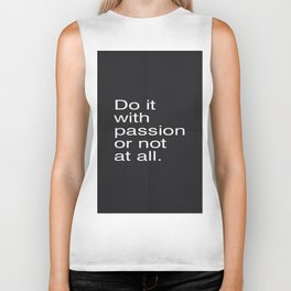 strong quote Biker Tank
