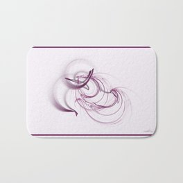 Lavender Swirls Bath Mat