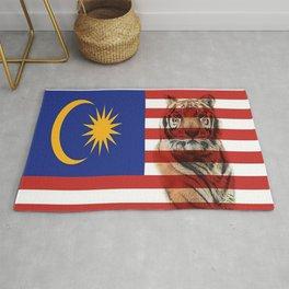 Malaysian Flag and Malayan Tiger Rug