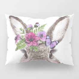 Bunny with flowers Pillow Sham