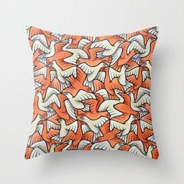 Birdwatching Bali Birds Ornithology Tessellation Throw Pillow