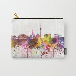 Stuttgart skyline in watercolor background Carry-All Pouch