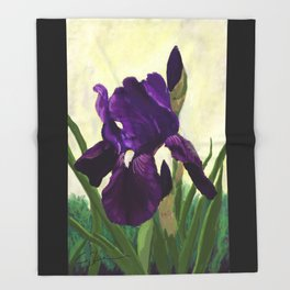 Purple Iris DP150530 Throw Blanket