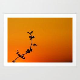 Simple Silhouette Art Print