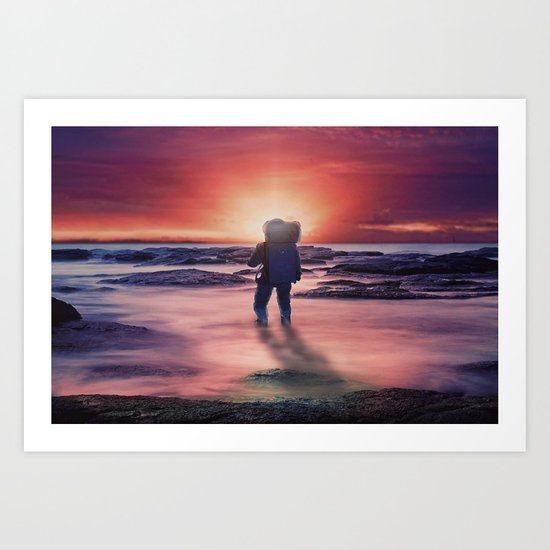 The Sunset Art Print