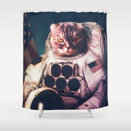 Funny Cat Astronaut #2 Shower Curtain