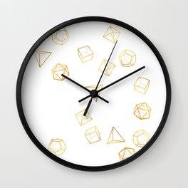 Platonic - Gold Wall Clock