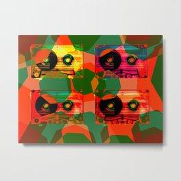 AUDIOTAPES CAMOUFLAGE 1 Metal Print
